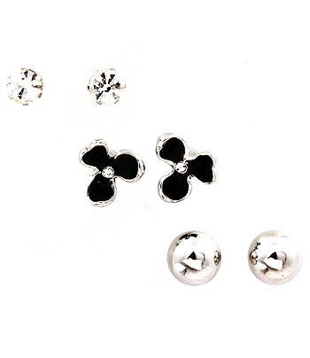 Silver 3-Piece Stud Set
