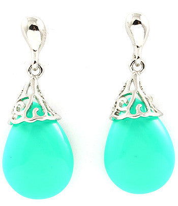 Turquoise Hanging Stone Earrings