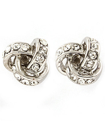 Sparkle Ribbon Post Earrings