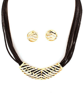 Cord Collar Necklace Set