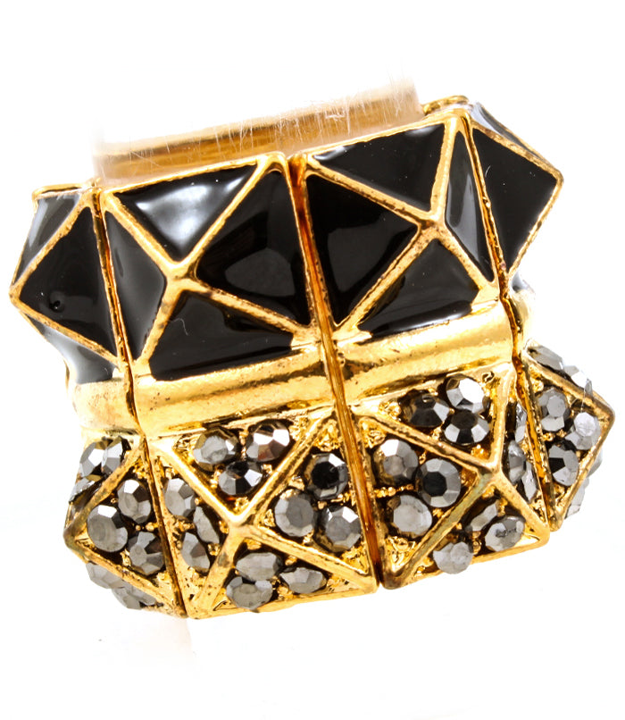 Black Pyramid Stud Ring