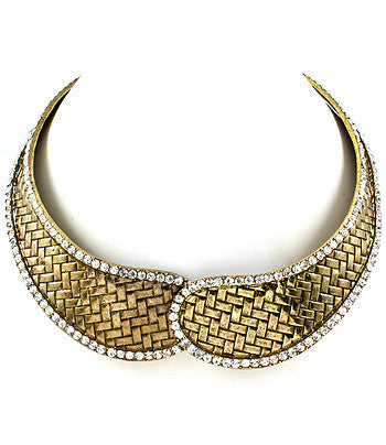 Gold Magnetic Choker Necklace