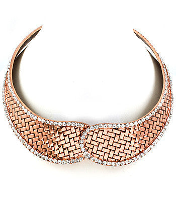 Rose Gold Magnetic Choker Necklace