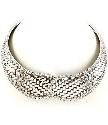 Silver Magnetic Choker Necklace