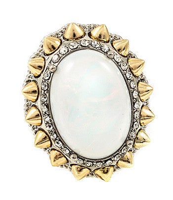 Opal Spike Framed Cocktail Ring