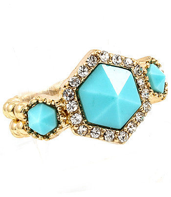 Turquoise Baroque Stone Ring