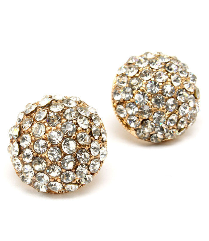 Diamond Pave Set Post Earrings