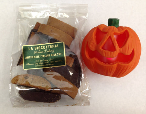 Biscottini - PUMPKIN Chocolate Dipped No Nuts (8 Oz.)