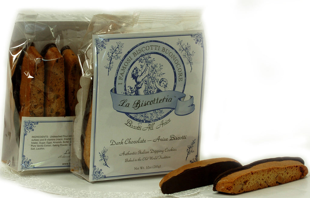 BISCOTTI ANISE DARK CHOCOLATE (10 - 12 oz.)