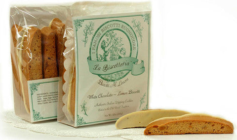 BISCOTTI LEMON WHITE CHOCOLATE (10 - 12 oz.)