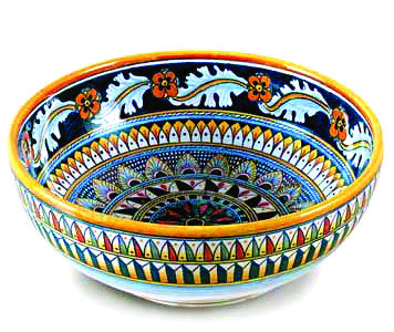 "DERUTA BOWL - ""Vario Geometrico"" Design (Medium)"