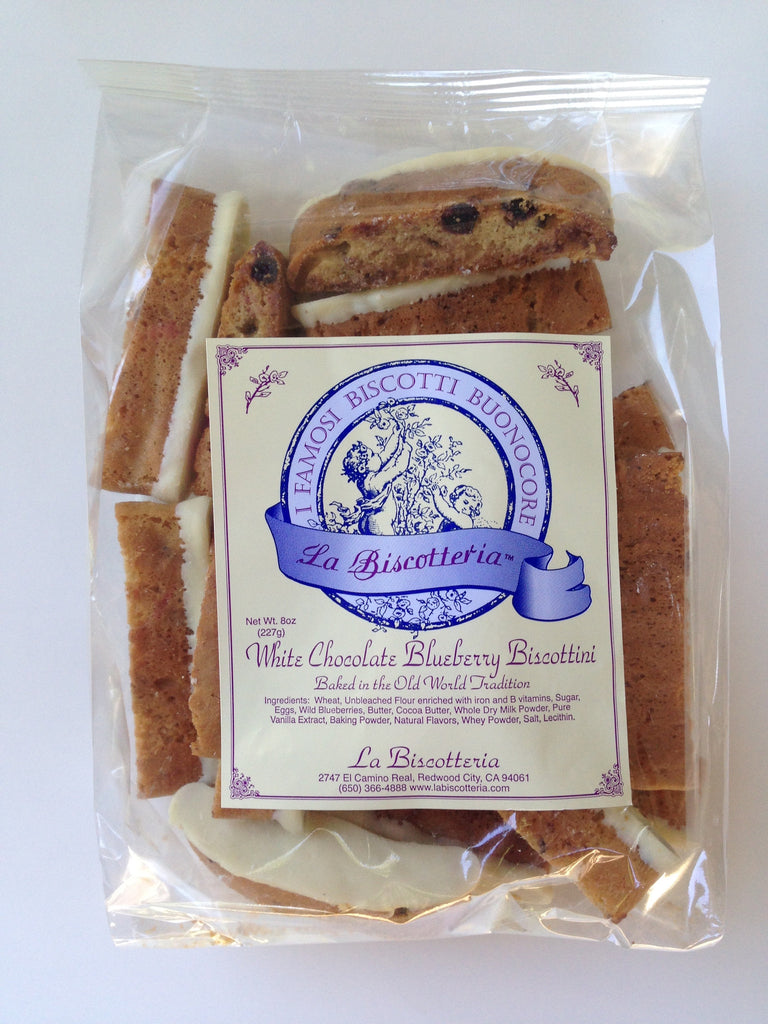 Blueberry White Chocolate Biscottini - No Nuts (8 oz.)