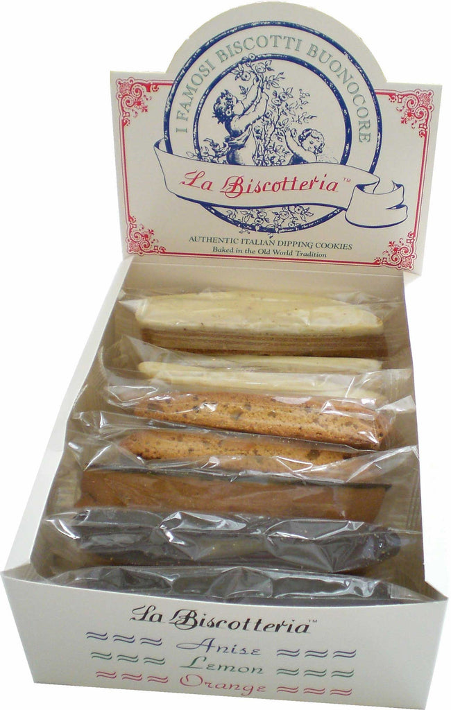 Anise Dark Chocolate Biscotti Counter Top Box