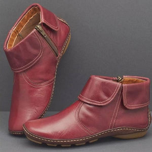 Casual Comfy Zipper Ankle Boots
