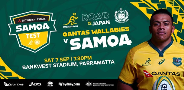 Win Wallabies vs Samoa Tickets