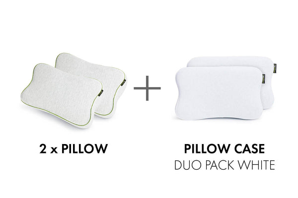 BLACKROLL® RECOVERY PILLOW DUO PACK | 2x memory foam pillows + cases