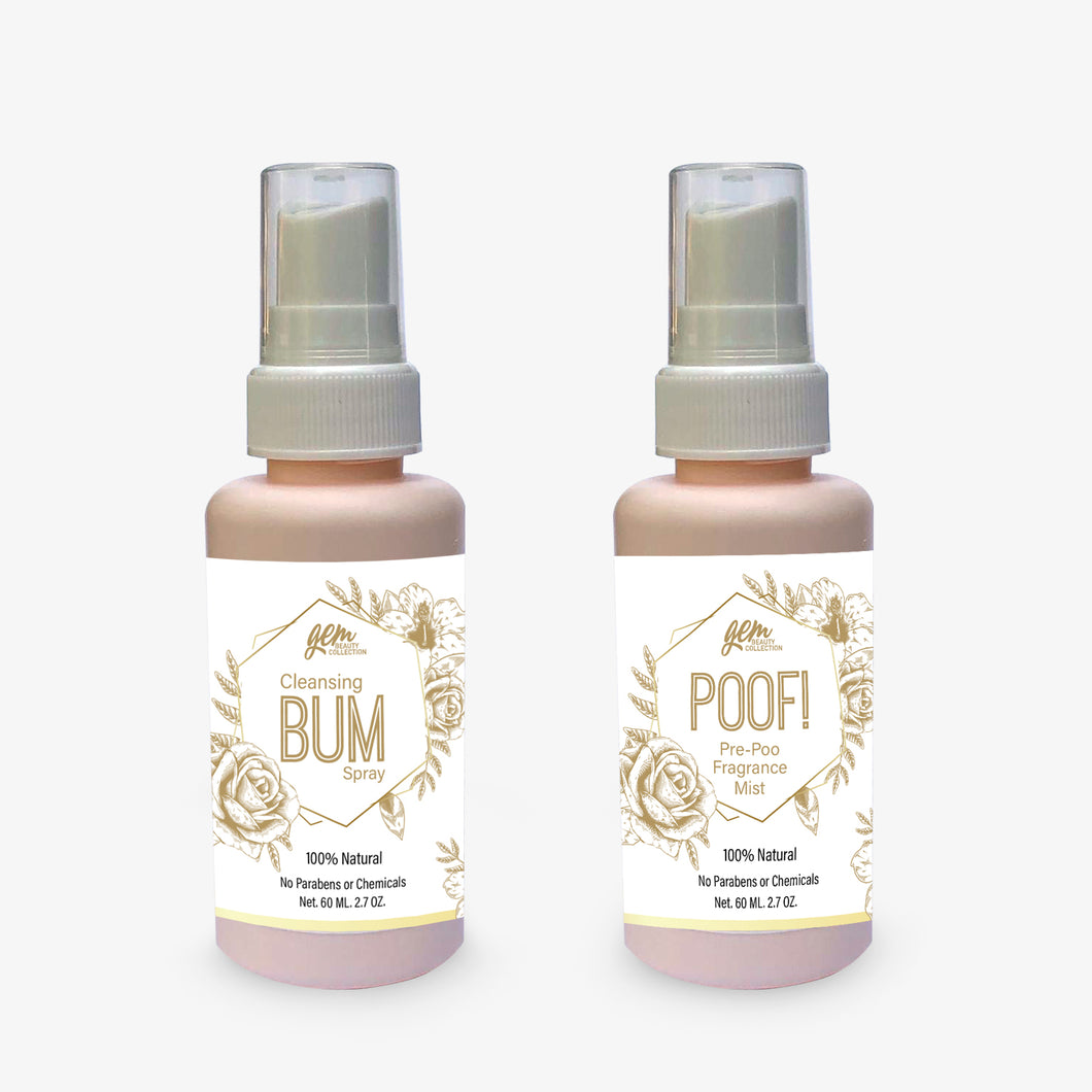 Poof! Pre-Poo Fragrance Mist & Cleansing Bum Mist