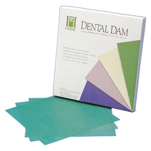 "Hygenic Dental Dam - 6 x 6"" (36 vel), green heavy"