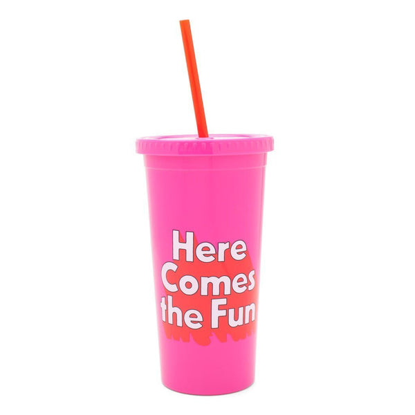 Here Comes the Fun Tumbler w/ straw
