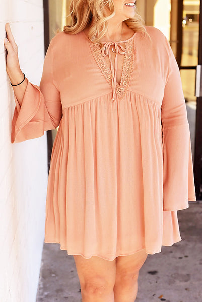 A Love Story Dress - Plus - Peach