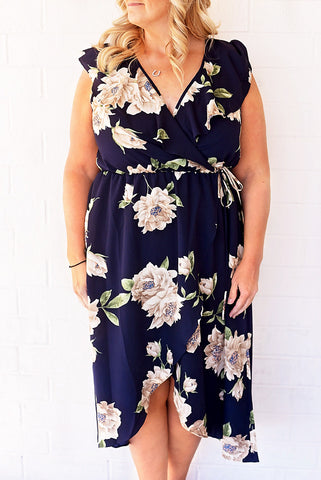 Daydream Floral Plus Size Dress - Navy Floral