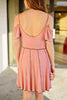 Natural Beauty Dress - Peach