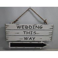 Wedding Sign - Wedding This Way