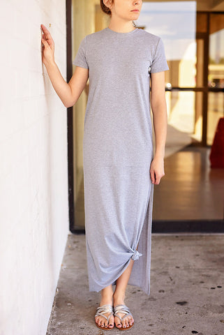 Fade Away Maxi Dress - Ash Grey
