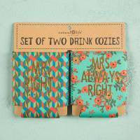 Set of 2 Cozies Mr. & Mrs.