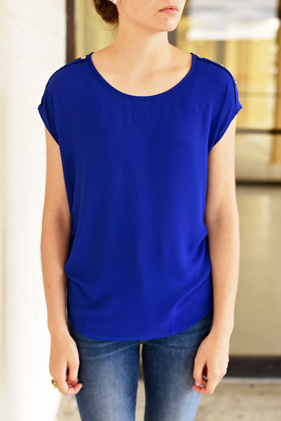 Luck of the Draw Top - Royal Blue
