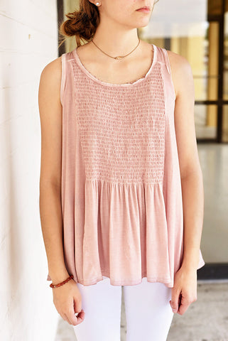 It's Complicated Babydoll Top - Blush