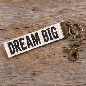 Canvas Key Fob Dream Big