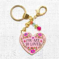 Gold Key Chains You are So Loved