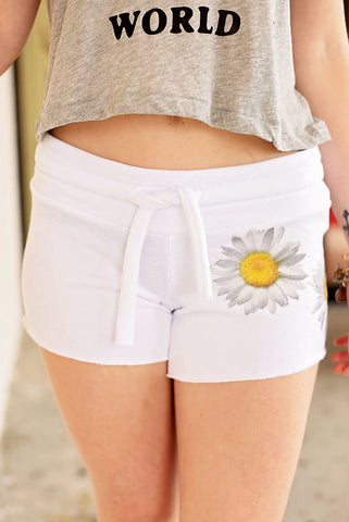 Fresh As A Daisy Shorts - White/Daisy