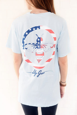 LG-America Is My Favorite Color-SS-Chambray