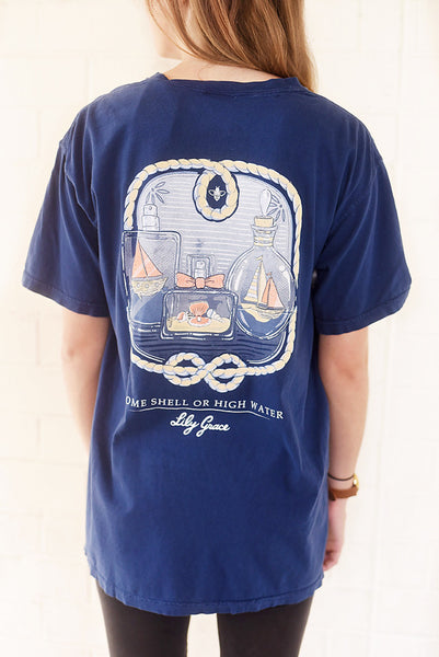 LG-Come Shell Or High Water-SS-True Navy