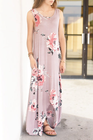 All About Me Hi Low Maxi- Blush