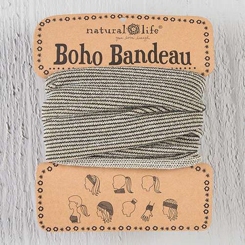 Boho Bandeau - Cream Tinsel