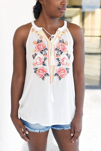 Unexpected Love Sleeveless Top - Ivory