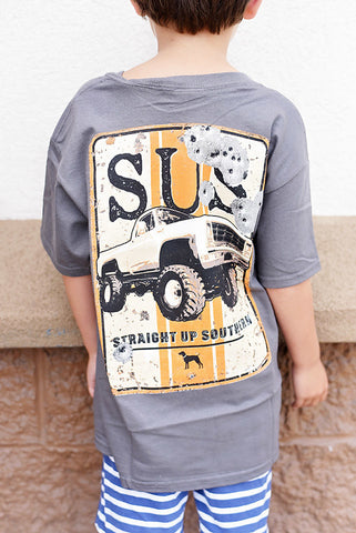 YOUTH- SUS- Truck Sign- SS- Charcoal