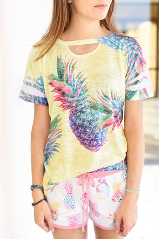 Pineapple Bliss Top- Yellow