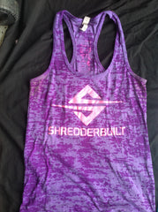 Brilliant color, burn out, racer back Shredderbuilt Tank