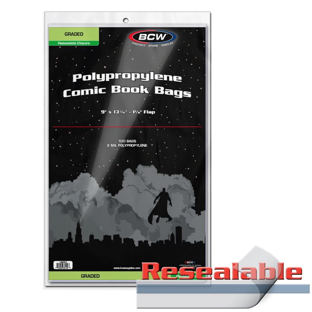BCW Graded Polypropylene Comic Book Bags