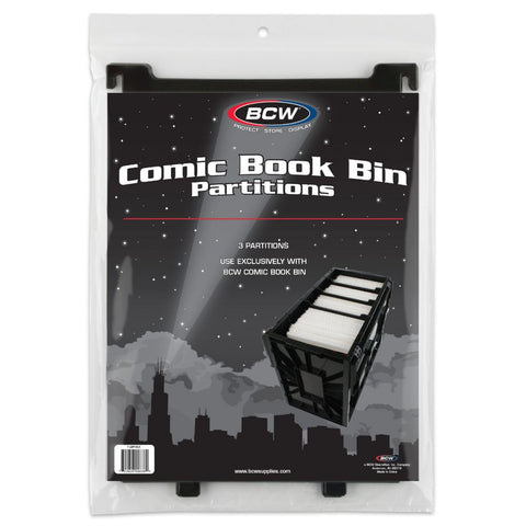 BCW Comic Book Bin Partitions 3 Pack
