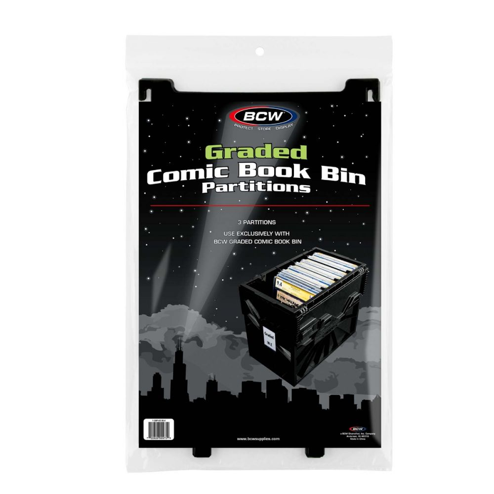 BCW Graded Comic Book Bin Patitions 3 Pack