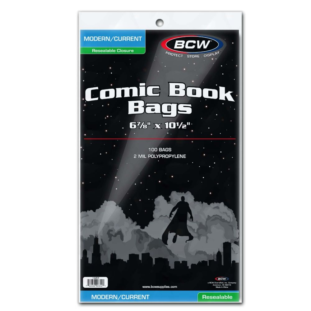 BCW Modern Current Comic Bags Resealable