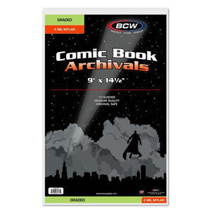 BCW Graded Comic Book Archivals 4 Mil Mylar 10 Pack