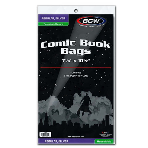 BCW Comic Book Bags Regular/Silver Resealable