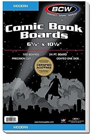 BCW Current Comic Book Boards 100 Pack