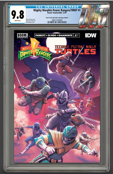 MIGHTY MORPHIN POWER RANGERS/TEENAGE MUTANT NINJA TURTLES #1 OUTER LIMITS BORO EXCLUSIVE